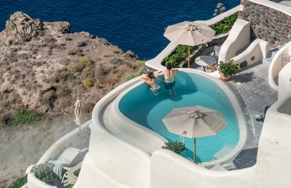 Piscina privada en Santorini