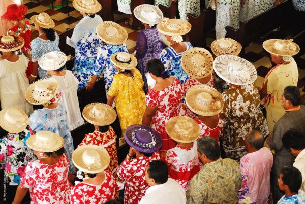 Tahiti pueblo local